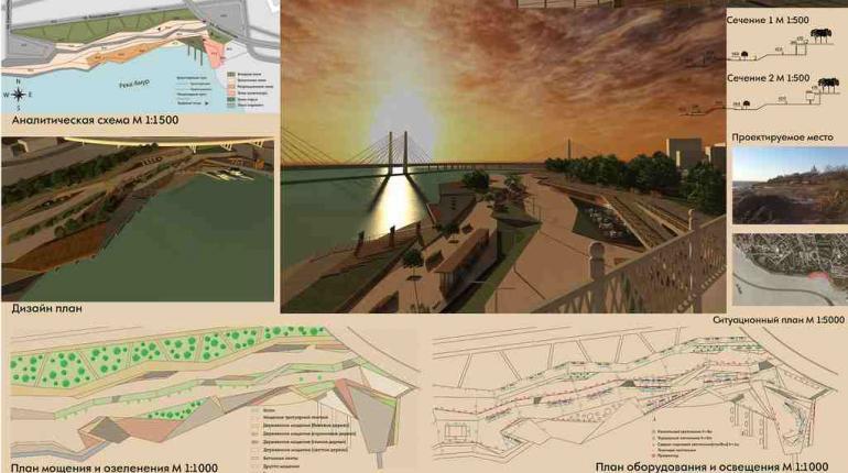 Реконструкция береговой территории в г.Хабаровск